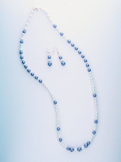 Enchanted Classic Pearl Necklace and Earrings