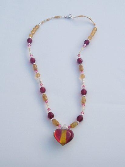 Innocence Rose Heart Necklace