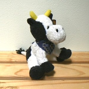 Mini Plush Cow Stuffed Animal Bean Bag Bottom