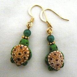 Peruvian Clay Turtle  Earrings