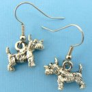 Scottie Dog Earrings – Pewter (Silver Toned)