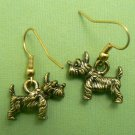 Scottie Dog Earrings – Pewter (Gold Toned)