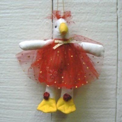 Handcrafted Fabric Duck Ornament