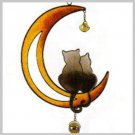 Cats on the Moon Copper Wind Chime