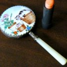 Kitty Cats in Baskets Enamel Hand Mirror
