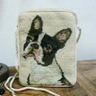 Boston Terrier Needlepoint Purse