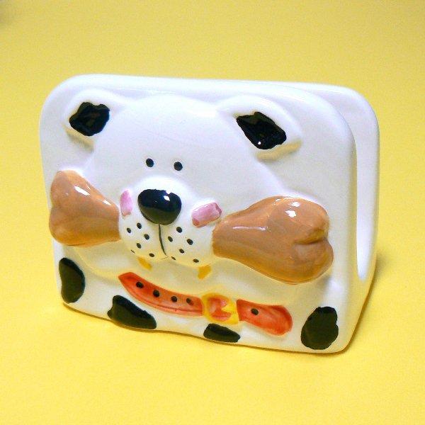 Puppy Dog with Bone Napkin Holder