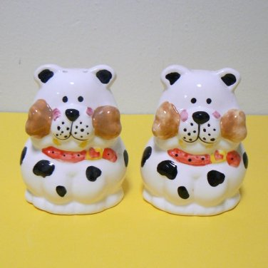 Puppy Dog with Bone Salt & Pepper Shakers