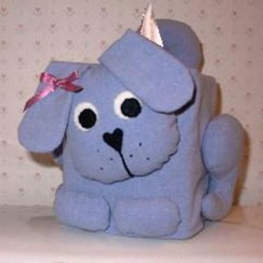 Dog (Lite Blue) Tissue Box Cover