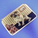 English Bulldog Dog Needlepoint Cosmetic Bag Case