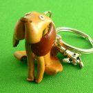 Leather Hound Dog Key Chain Keychain Ring
