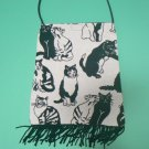 B/W Cats Tapestry Fabric Purse
