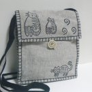 Whimsical Kitty Cats Shoulder Bag Purse – Gray