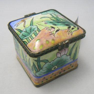 Frog Square Postage Stamp Holder / Dispenser