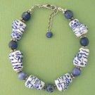 Cat Porcelain & Sodalite Bead Bracelet