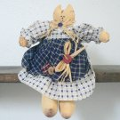 Tabby Kitty Cat Country Girl Doll
