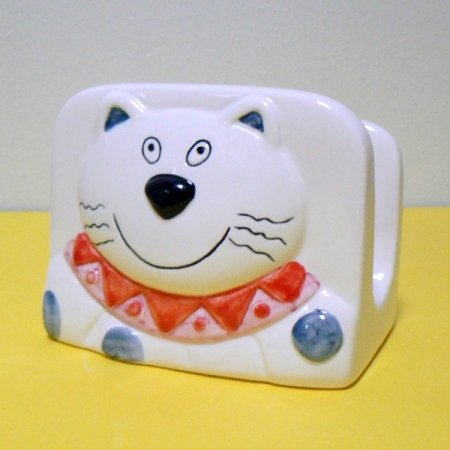 Smiling Kitty Cat Napkin Holder