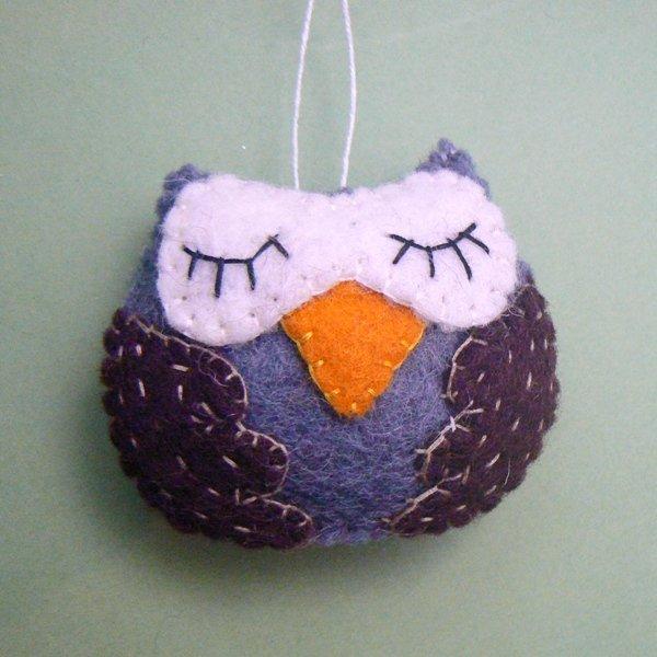 Wool Felt Owl Christms Tree Ornament