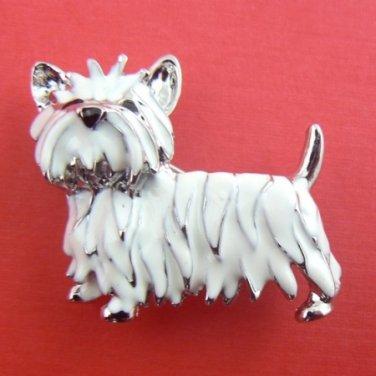 Westie West Highland Terrier Dog Enamel Pin