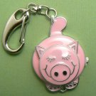 Pink Pig Pocket Clasp Watch w/ Movable Head