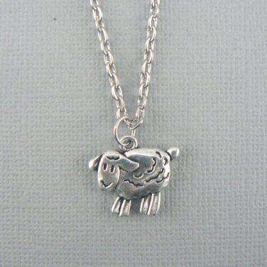 Little Sheep Lamb Ram Silver Necklace Pendant