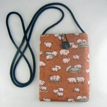 Mini Pouch with Little Hogs Pigs Purse Bag