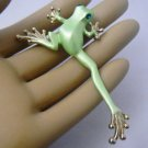Green Tree Frog Enamel Gold Pin