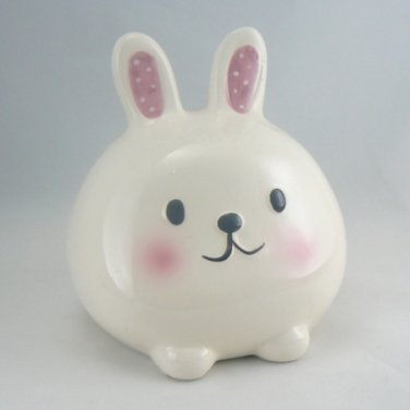 Little White Bunny Rabbit Coin Bank