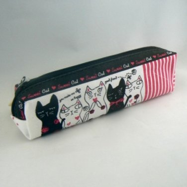 Kitty Cats Zippered Pen Pencil Case Pouch Bag