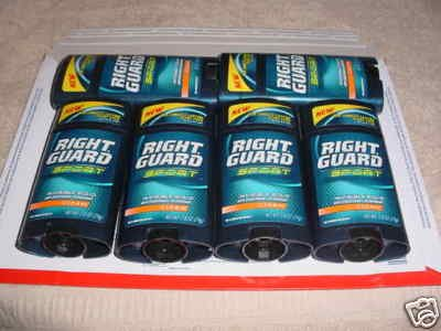 NEW LOT/PACK of 4 RIGHT GUARD SPORT ANTI-PERSPIRANT DEODORANT **