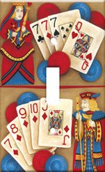 Poker Queen King Single Switchplate New Handcrafted USA