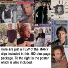 Kevin Costner clippings, set #17 - includes more than 180 pages + poster