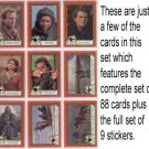 Robin Hood: Prince Of Thieves - complete set of 88 trading cards & 9 stickers - Kevin Costner