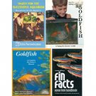 Set of 4 books / booklets about pet fish and aquariums (fish tanks)