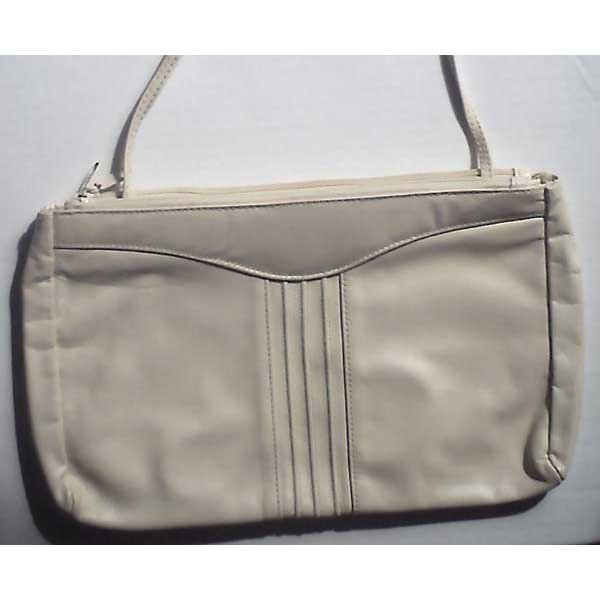 Genuine leather purse - beige - new