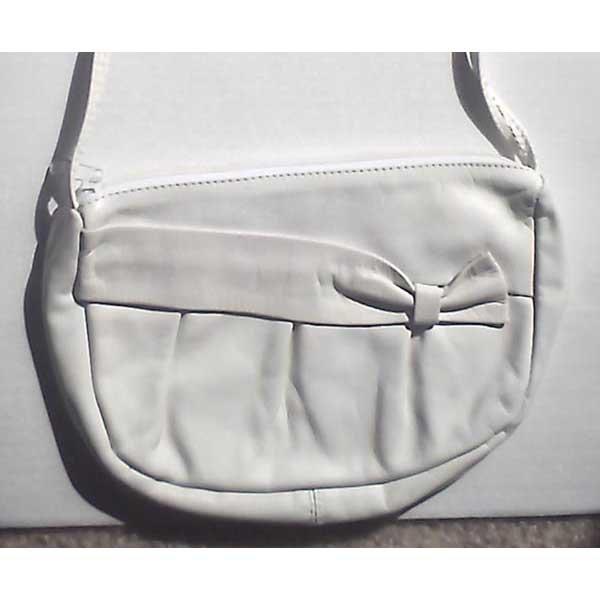 Genuine leather purse - white