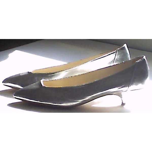 "Shoes - silver leather pumps - ""Lora"" by Concordia - size 8.5 M"