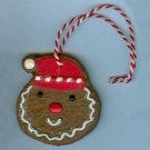 2008 Hallmark Gold Crown Exclusive Gingerbread Cookie Ornament - Cookie Face