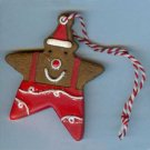 2008 Hallmark Gold Crown Exclusive Gingerbread Cookie Ornament - Star
