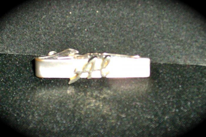 Swank Mens Tie clip silver Tone & Gold tone