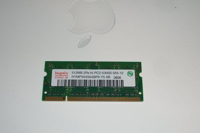 512mb Ram from Macbook Pro