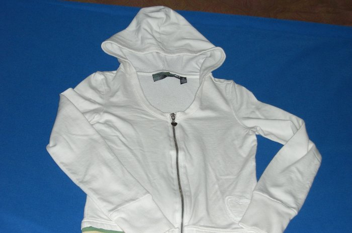 One Step Up Whjte Hooded Sweater