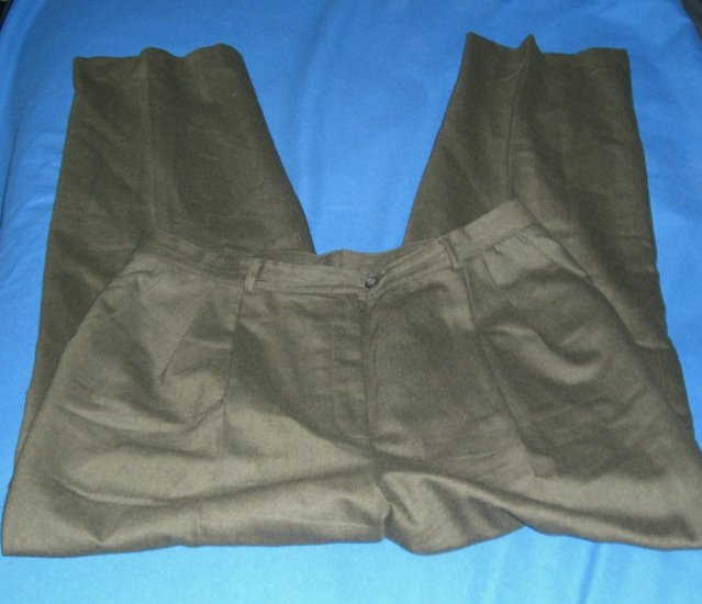 Mens Ralph Lauren 100% Wool Tailored Slacks Pre-Ownend