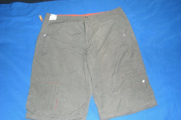 Mens Utility Shorts Army Green & Orange Lining New With Tags