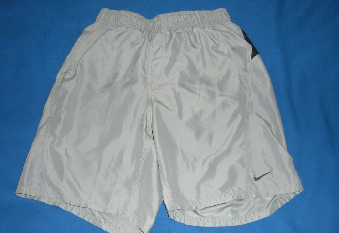 Gray & Black Nike Swim Trunks Pre-Owned In mint Condition