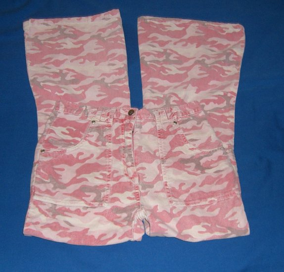 Lo Jean Womens Pink Camouflage Pants