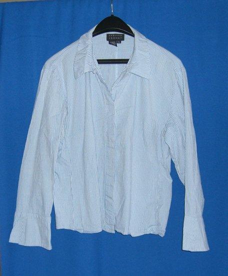 Spenser Jeremy Misses Blue Stripe Collar Shirt