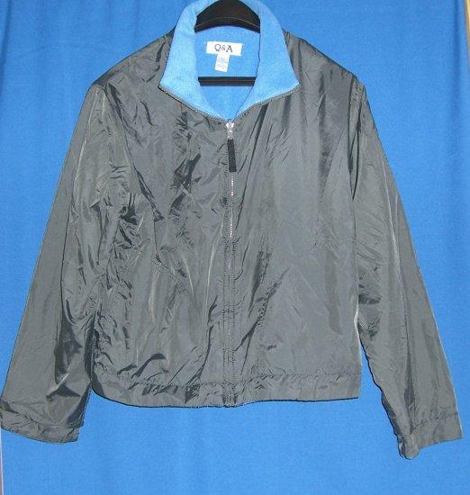 Q & A Grey / Blue Reversible Windbreaker Jacket