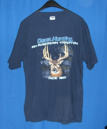 Dark Blue Deer Hunting An American Tradition T-Shirt