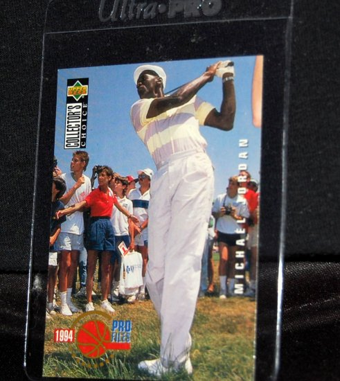 Michael Jordan Pro-files 1994 Upper Deck #204 M.J. Playing Golf